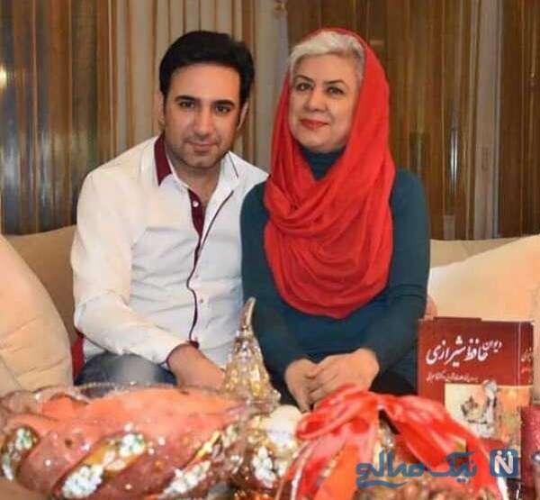شاهین صمدپور خبرنگار کنار مادرش