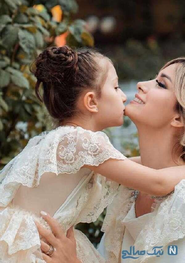سپیده بزمی پور و دخترش