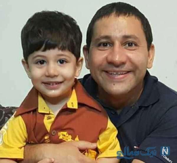 عکس از سروش جمشیدی و پسرش