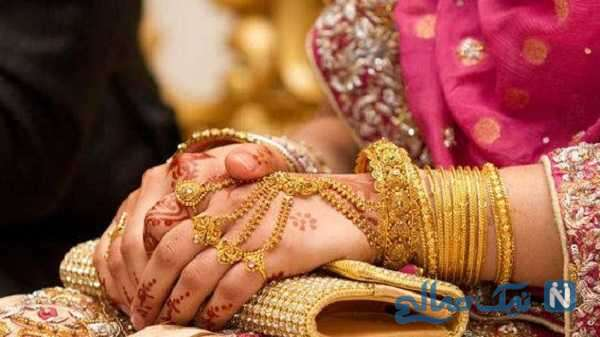 حرکت عجیب عروس بعد از دریافت کادو