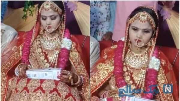 اقدام عجیب عروس هندی