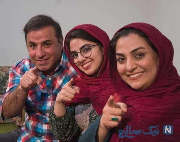 علی سلیمانی کنار همسر و دخترش