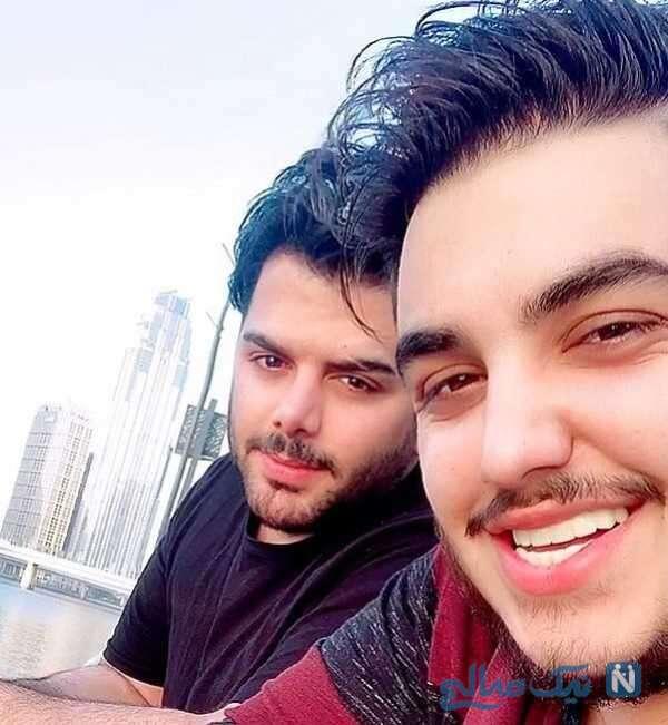 شباهت جالب آرون افشار و برادرش