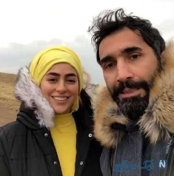 هادی کاظمی بازیگر معروف و همسرش