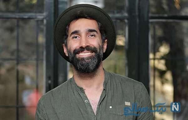 هادی کاظمی بازیگر قبله عالم با پوشش عجیب در خیابان های تهران