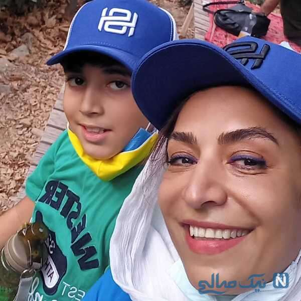 کوهنوردی ساناز سماواتی و پسرش