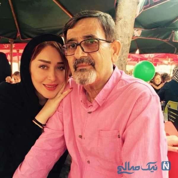 سارا منجزی بازیگر معروف و پدرش