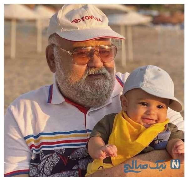 اکبر عبدی به همراه نوه اش