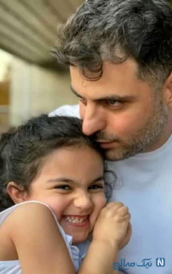 علی ضیا کنار خواهرزاده زیبایش