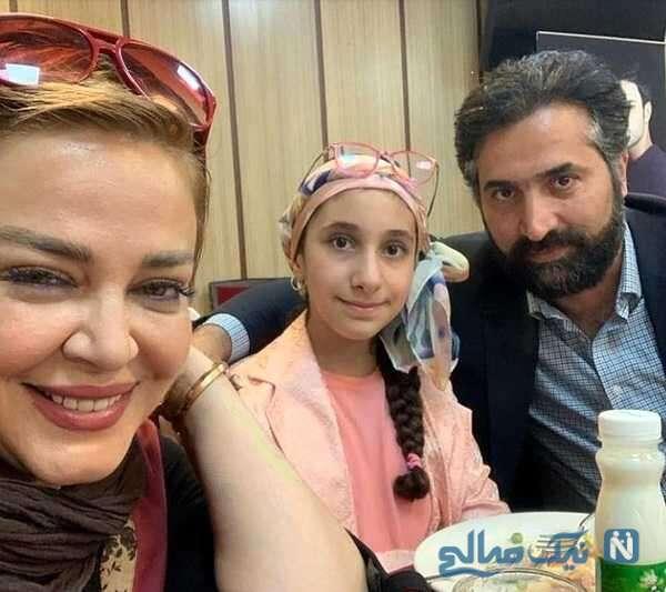 امیرخسرو عباسی در کنار همسر و دخترش