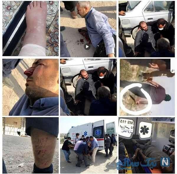 کتک زدن پلیس ساختمان شهرداری