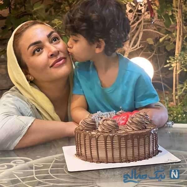 جشن تولد زیبا بروفه کنار پسرش
