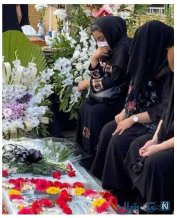 چهلم علی سلیمانی با حضور همسر و دخترش