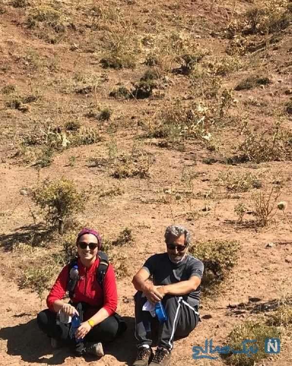 کوهنوردی گلاره عباسی و پدرش