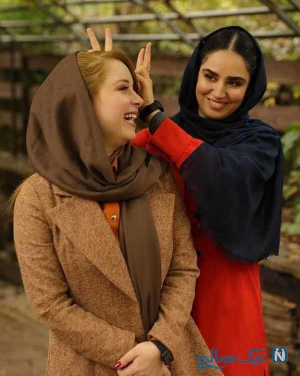 تصویر جالب هانیه غلامی با خاله ثمین اش