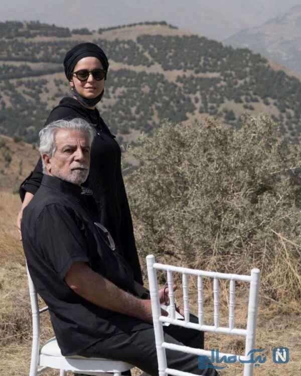 غزل شاکری کنار همسر مادرش