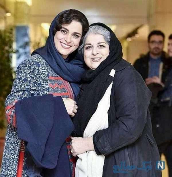 بازیگر ایرانی غزل شاکری و مادرش