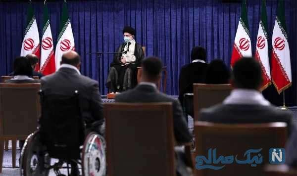 دیدار قهرمانان المپیک ایران با رهبر