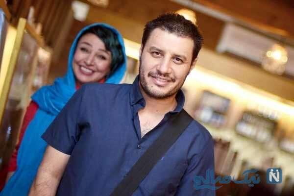 جواد عزتی هنرپیشه معروف و همسرش
