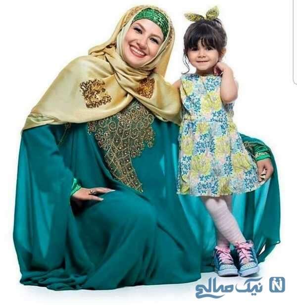 ملیکا زارعی و دخترش