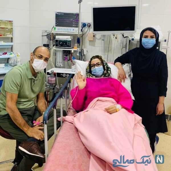 بستری شدن ملیکا زارعی در بیمارستان بر اثر ابتلا به کرونا