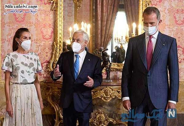 رئیس جمهور شیلی و پادشاه اسپانیا