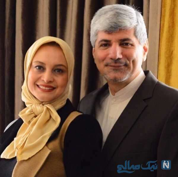 مریم کاویانی هنرپیشه سینما و همسرش