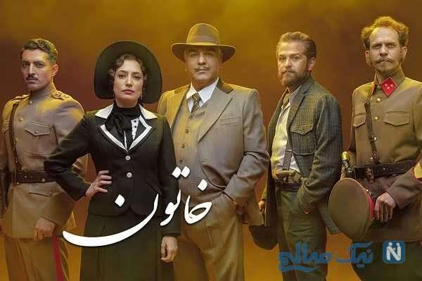 تصویری جالب از سمانه منیری و مهدی قربانی در نمایی از سریال خاتون