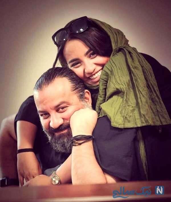 عکس جالب مهراب قاسم خانی و دخترش نیروانا