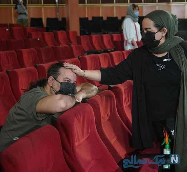 مهراب قاسم خانی و دخترش در سینما
