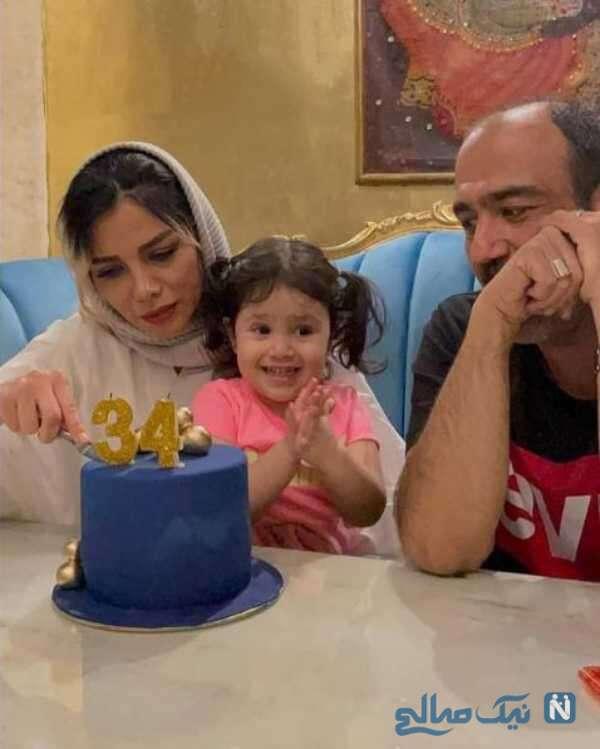 مهران غفوریان با همسرش و دخترش