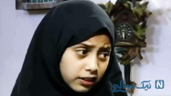 مونا فرجاد بازیگر ایرانی در 9 سالگی