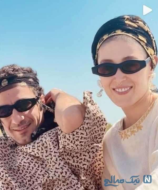 عاشقانه های نوید محمدزاده و همسرش