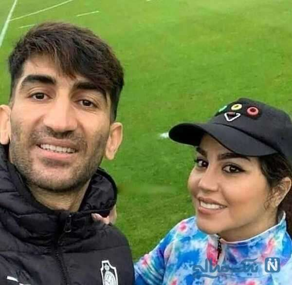 عکس جدید علیرضا بیرانوند و همسرش