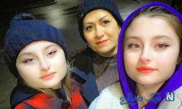 دوقلوهای سریال پایتخت کنار مادرشان