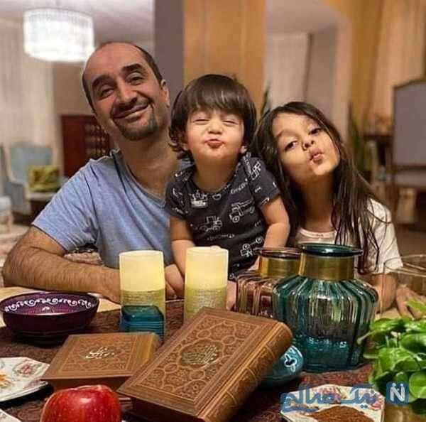 عکس جالب نیما کرمی و فرزندانش