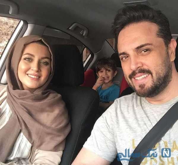 ماشین گردی پدرام کریمی با همسر و پسرش