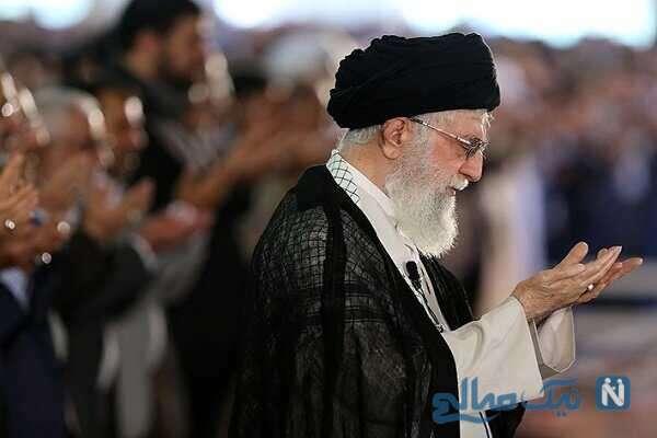 اقامه نماز رهبری بر پیکر علامه حسن زاده آملی
