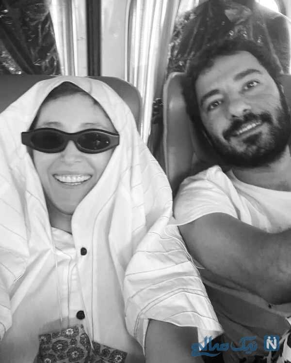 فرشته حسینی و همسرش
