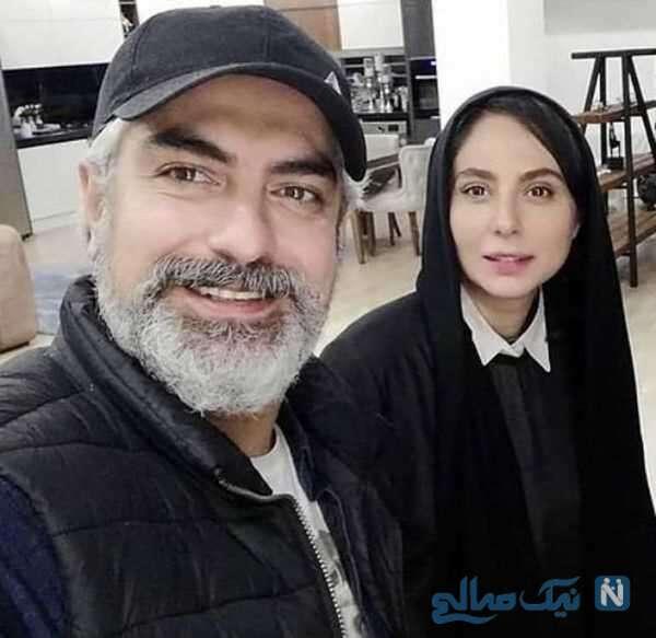 عکس رعنا آزادی ور و همسرش