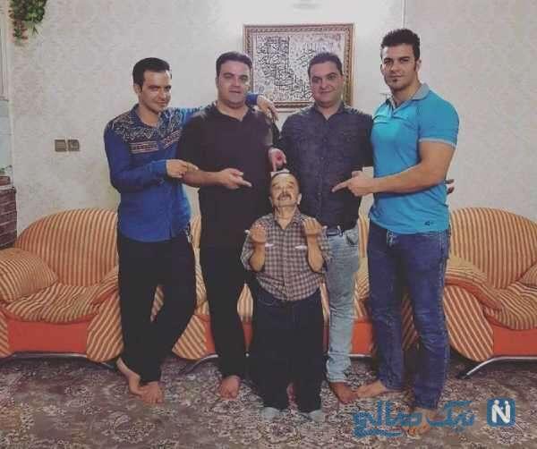 جالب ترین عکس اسدالله یکتا و پسرانش