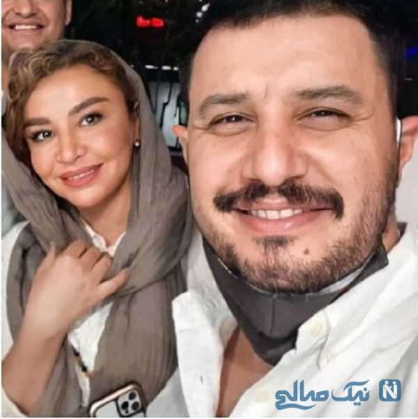 سلفی جواد عزتی با همسرش