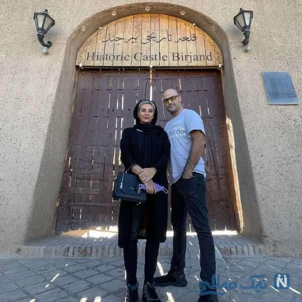 تصاویری از حدیثه تهرانی و همسرش در بیرجند