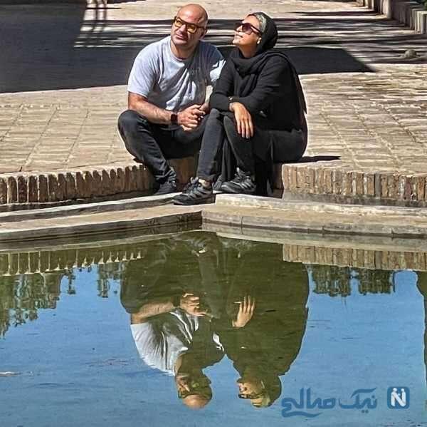 اوقات خوش حدیثه تهرانی و همسرش