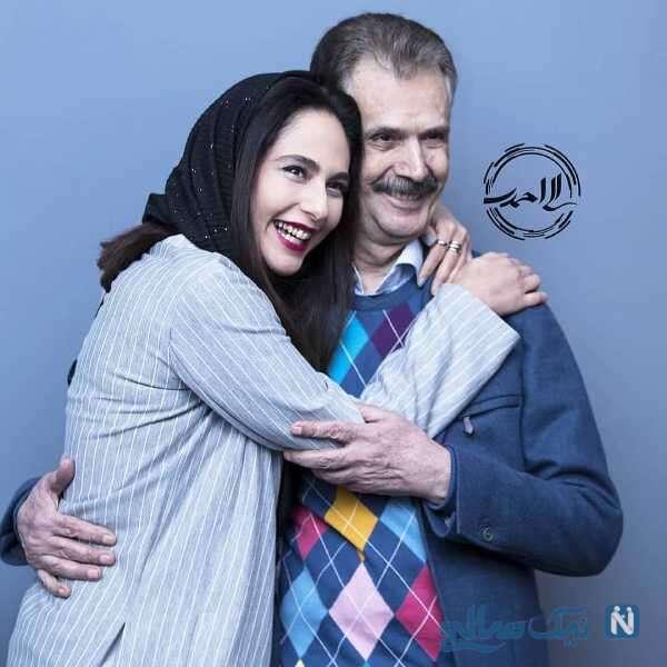رعنا آزادی ور در آغوش پدرش