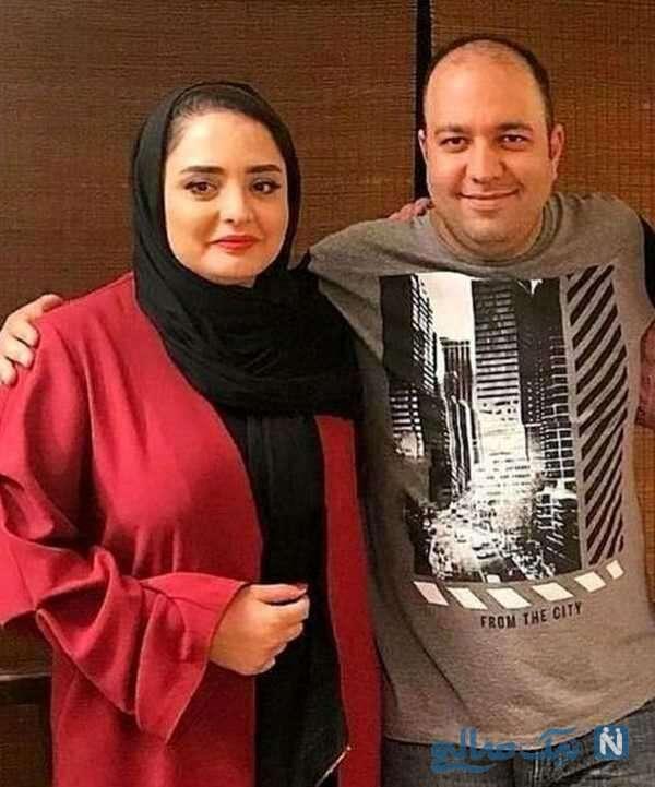 عکس عاشقانه نرگس محمدی و همسرش