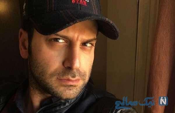 روزبه حصاری بازیگر سریال افرا در باغ موزه سینما در برابر عکاسان