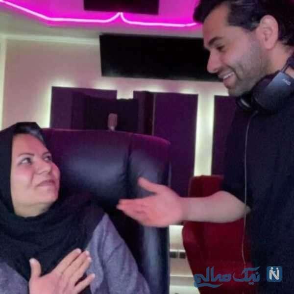 خواننده ایرانی و مادرش