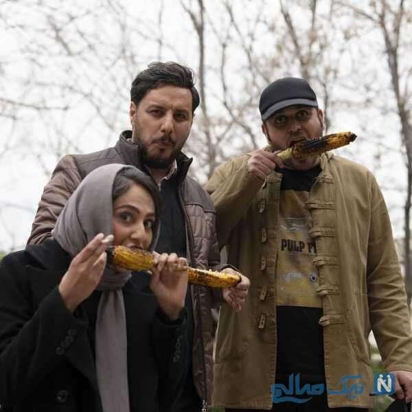 بلال خوردن جواد عزتی و رعنا آزادی ور