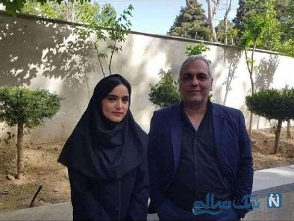 سارا باقری کنار مهران مدیری